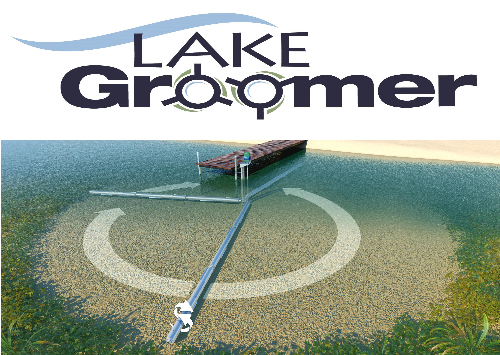 Lake Groomer lake weed roller removal machine