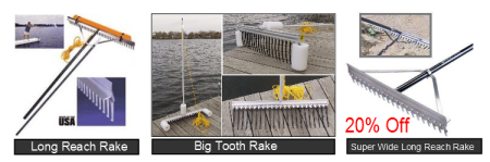 Lake beach pond rakes