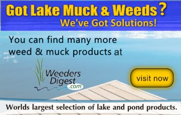 Lake muck solutions to control sediment weeds algae for How to remove algae from pond without harming fish